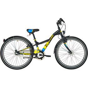 s'cool XXlite 24 3-S Steel Kids, black/yellow matt